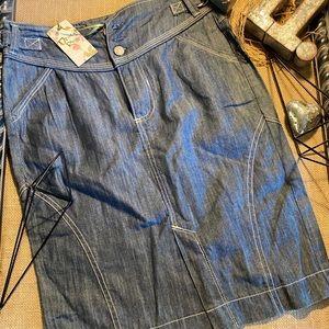 NWT Desert Rose Denim Mini Skirt Size 6